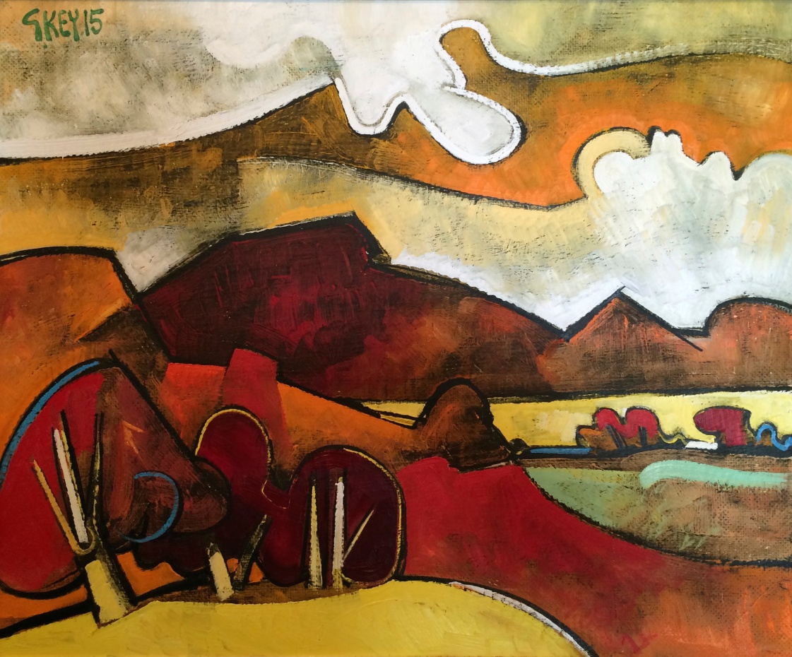 red landscape, oil 2015