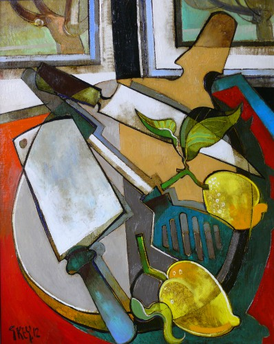 kitchen still life, oil 2012
