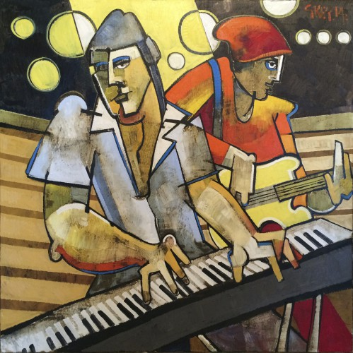 keyboard, oil 2014