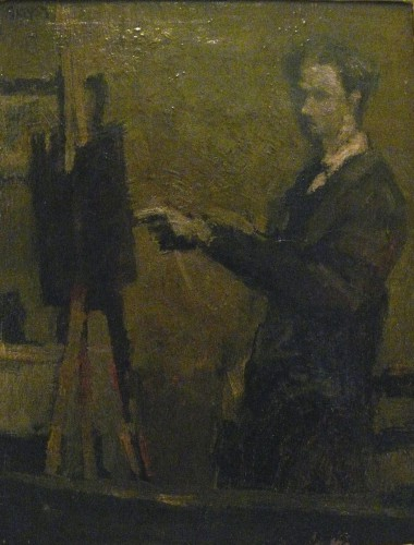 Self portrait, oil 1959