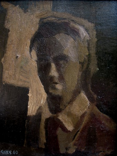 Self portrait, oil 1960