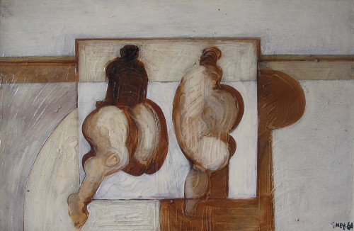 two field figures, oil 1964