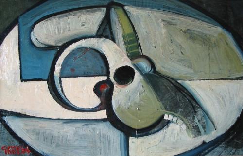ram's skull, oil 1964