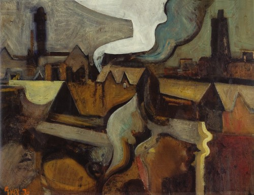 view of Strangeways, oil 1970