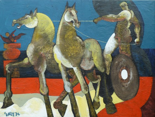 chariot, oil 1974