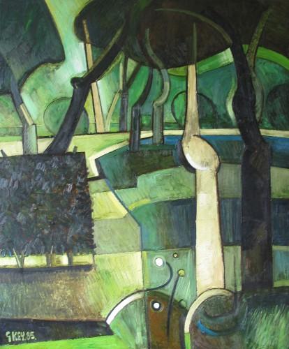 Lightoaks Park, oil 1985