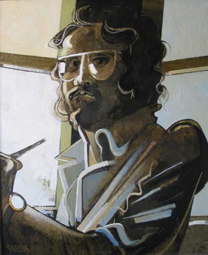 Self portrait, oil 1994