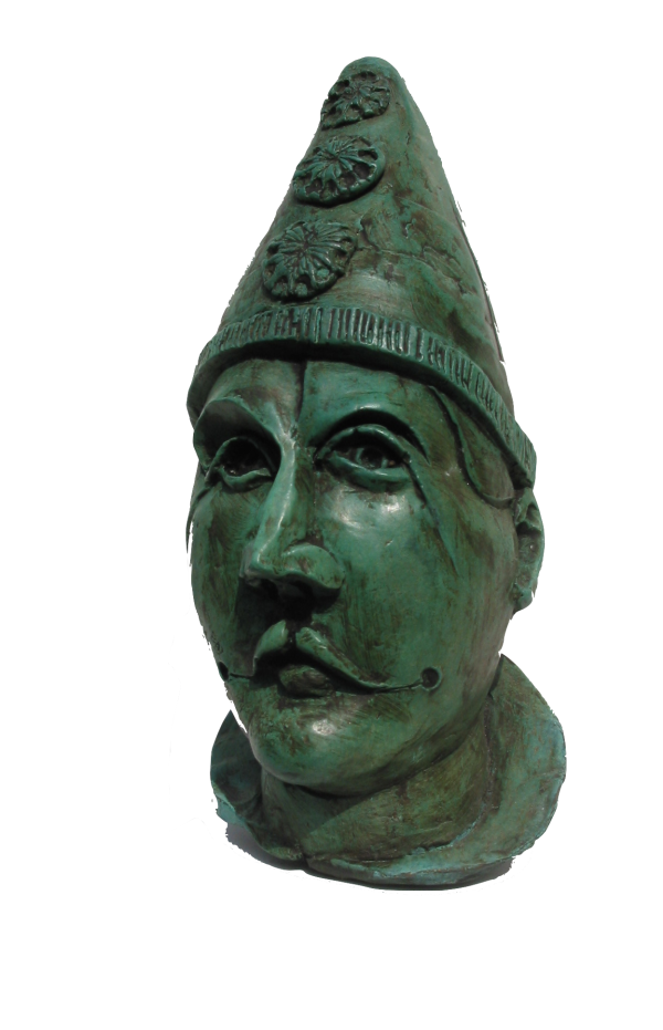 pierrot head, bronze 2001
