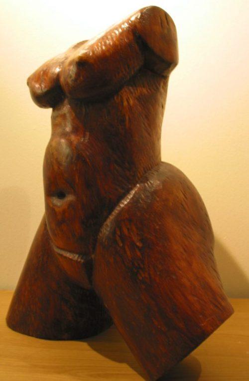 torso, pear wood 1977