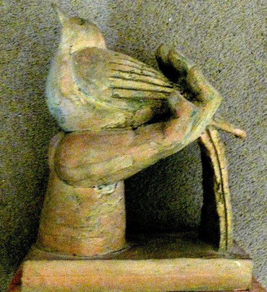 bird in hand, terracotta 1981