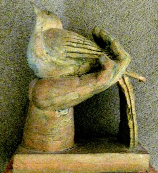 bird in hand, terracotta 1981