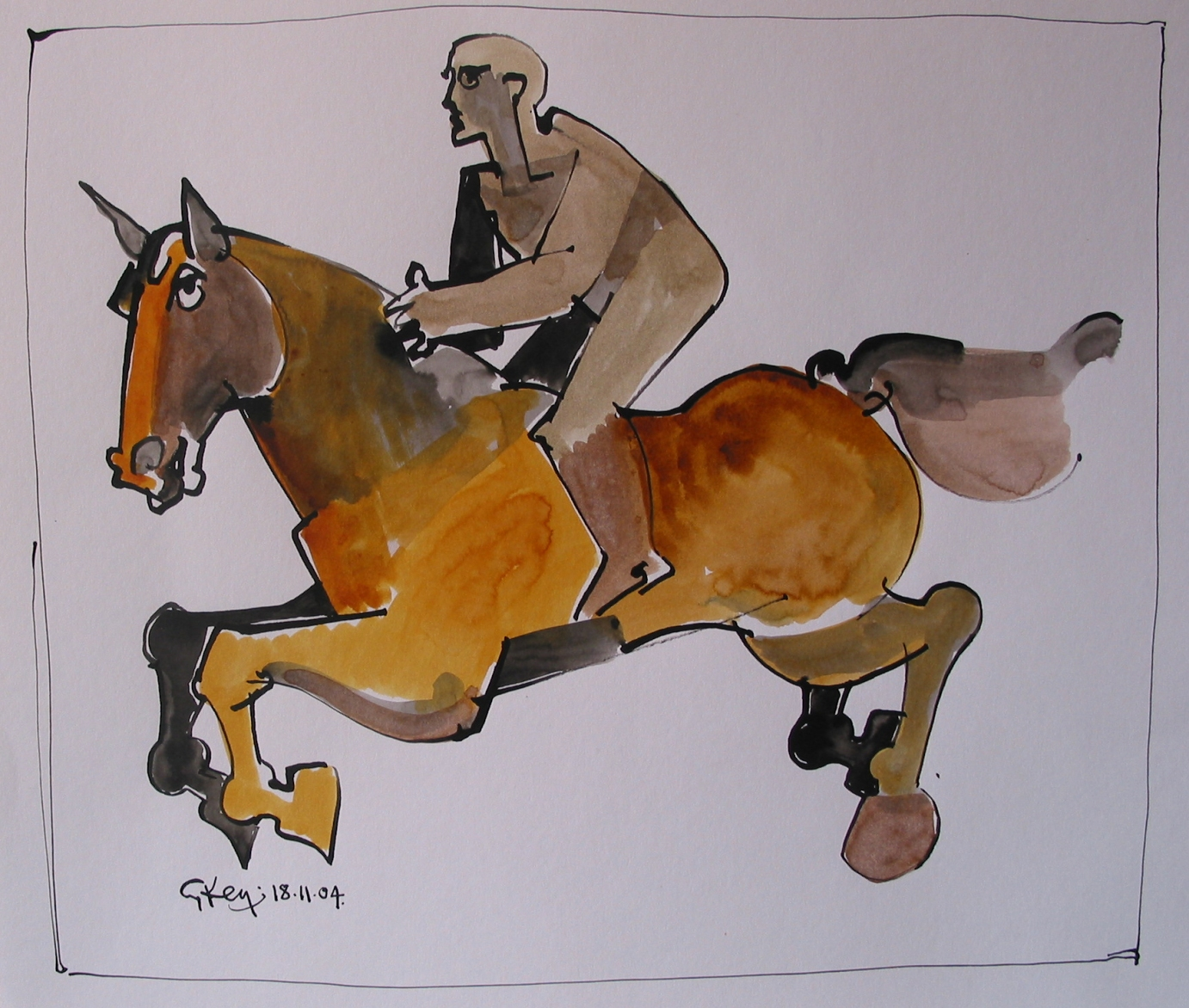 race, ink and wash 2004