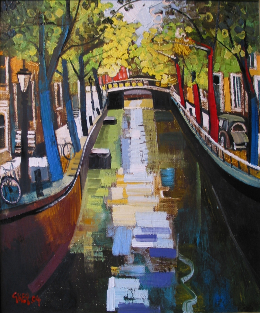 canal reflections, oil 2004