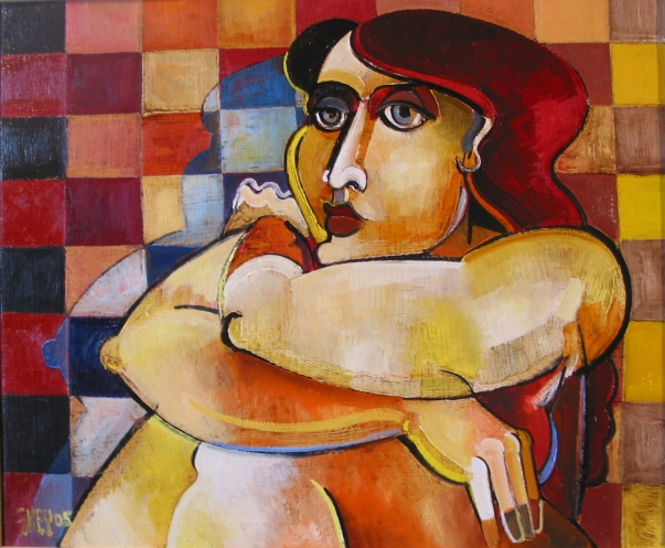 bathroom figure, oil 2005