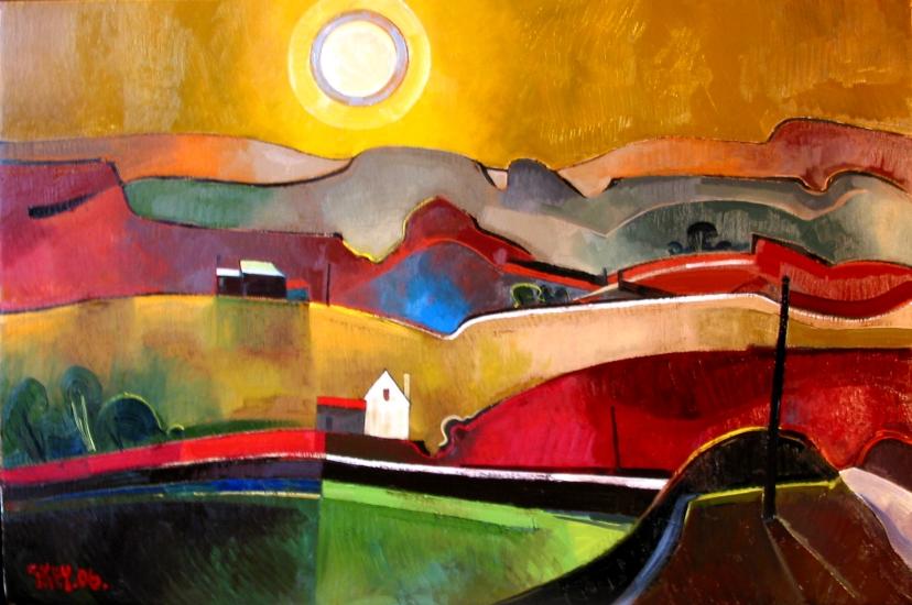 edge of the moor, oil 2006