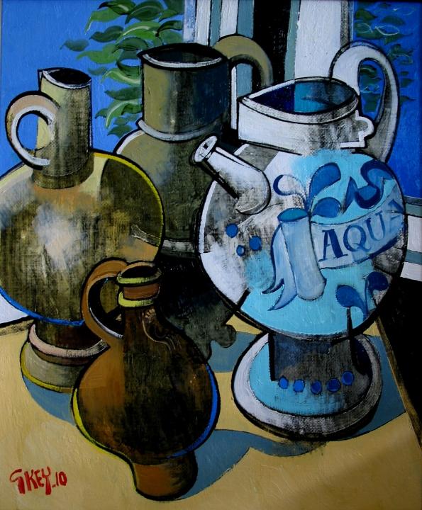 apothecary jar, oil 2010