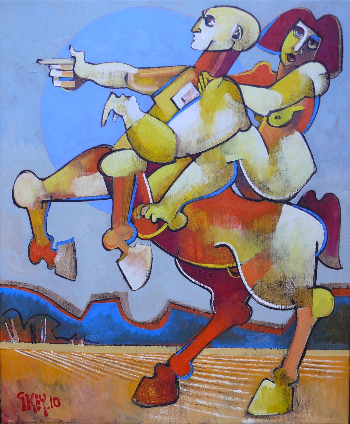 centaur and rider, oil 2010