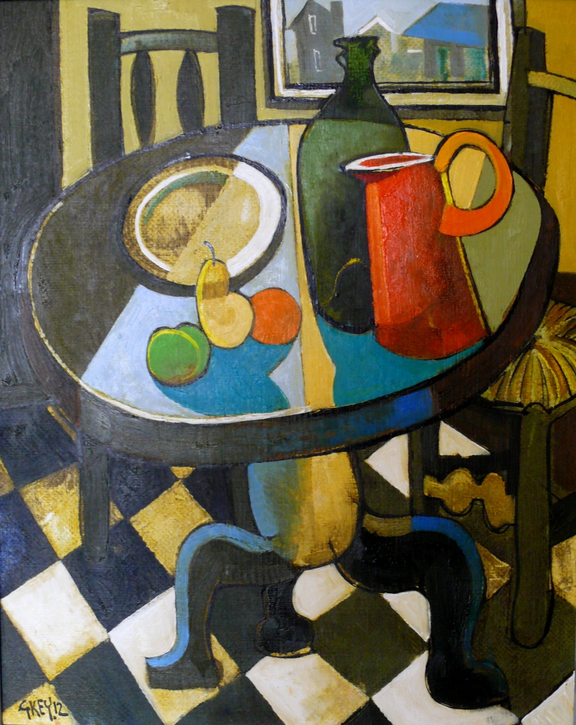 table still life, oil 2012