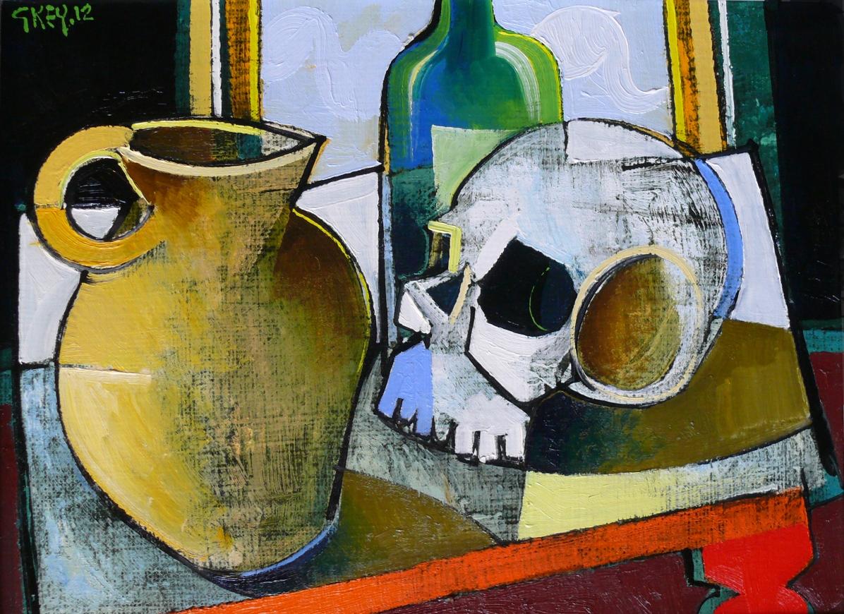 mememto mori, oil 2012