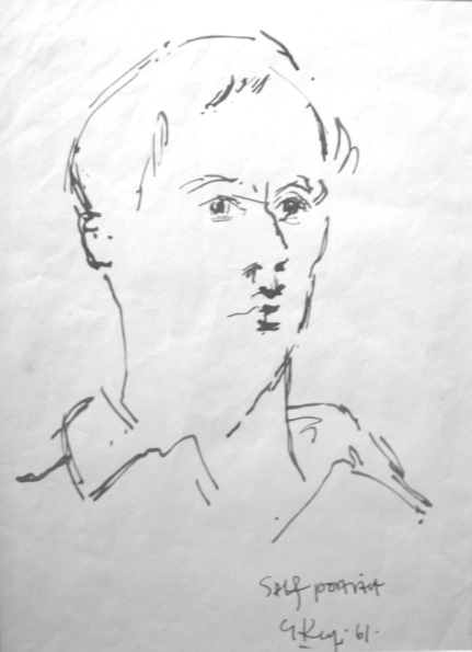 self portrait, ink 1961