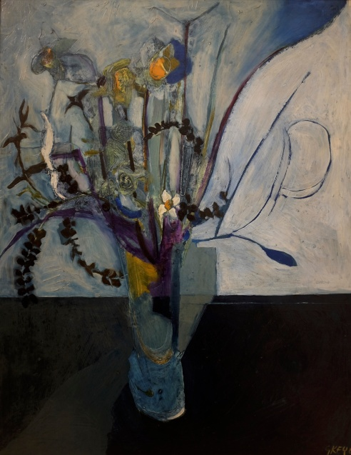 still life with flowers, oil 1965
