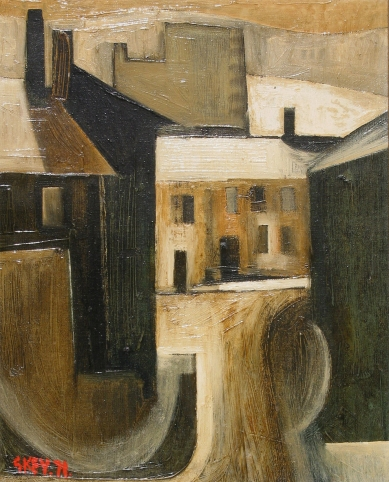 Camp St, Broughton, oil 1971