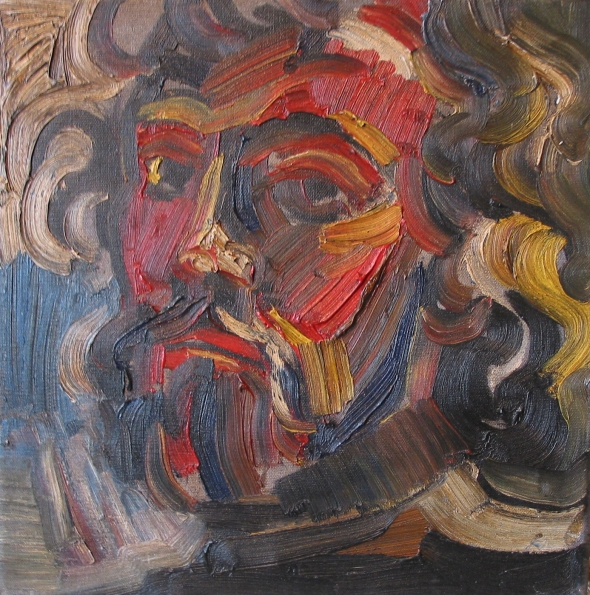 self portrait, oil 1973