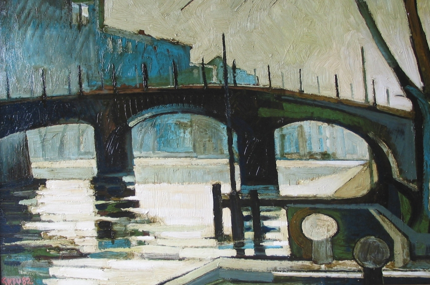 river Amstel, oil 1982