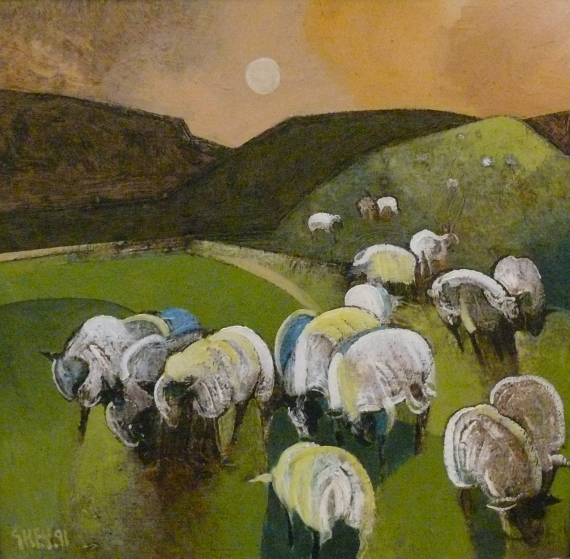 sheep, oil 1991