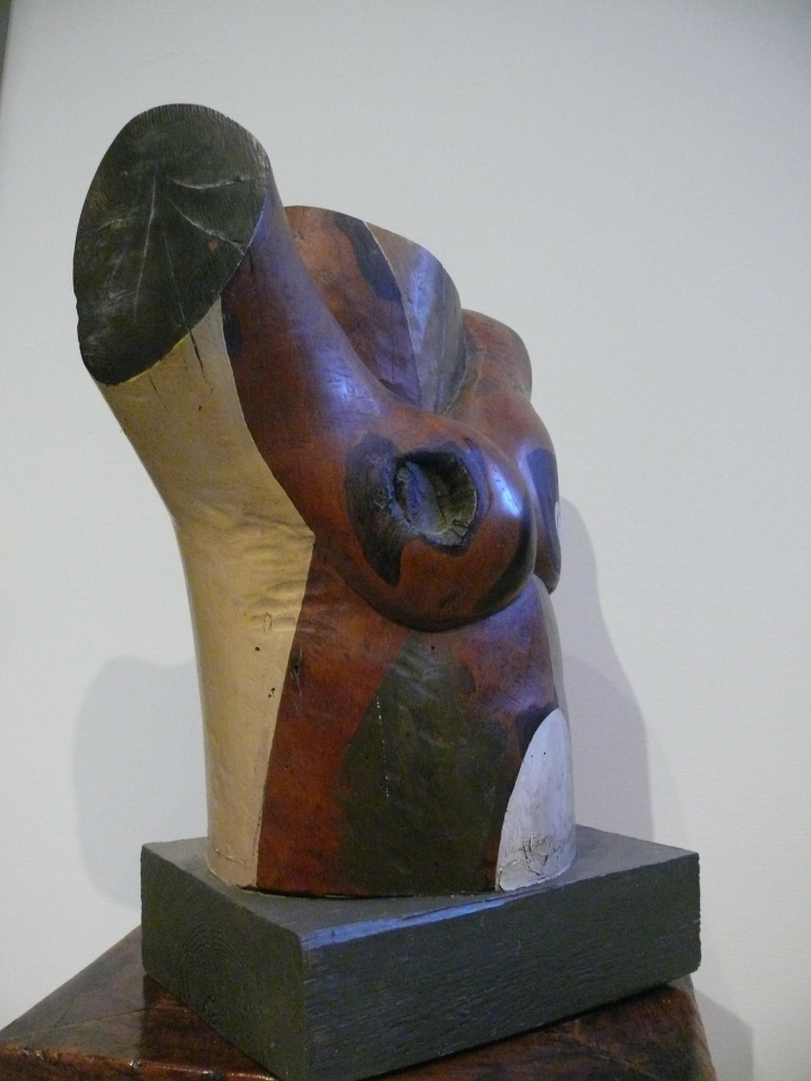 torso, polychrome wood 1991