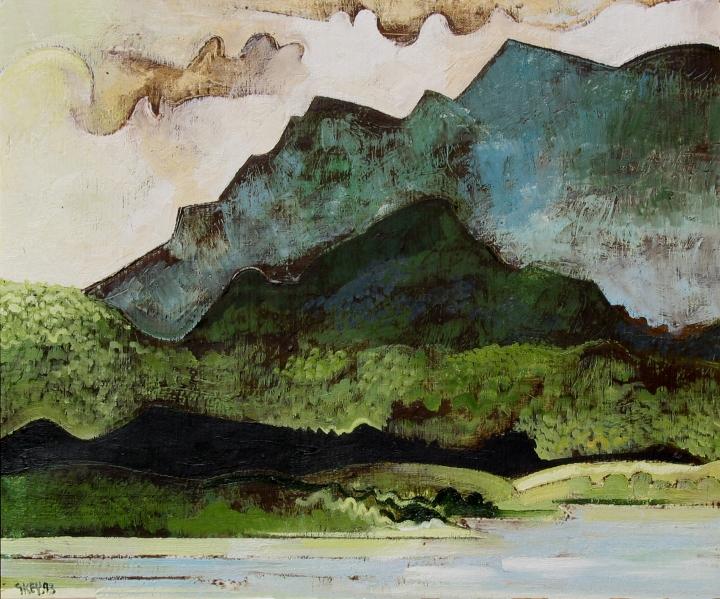 New Territories Hong Kong, oil 1993
