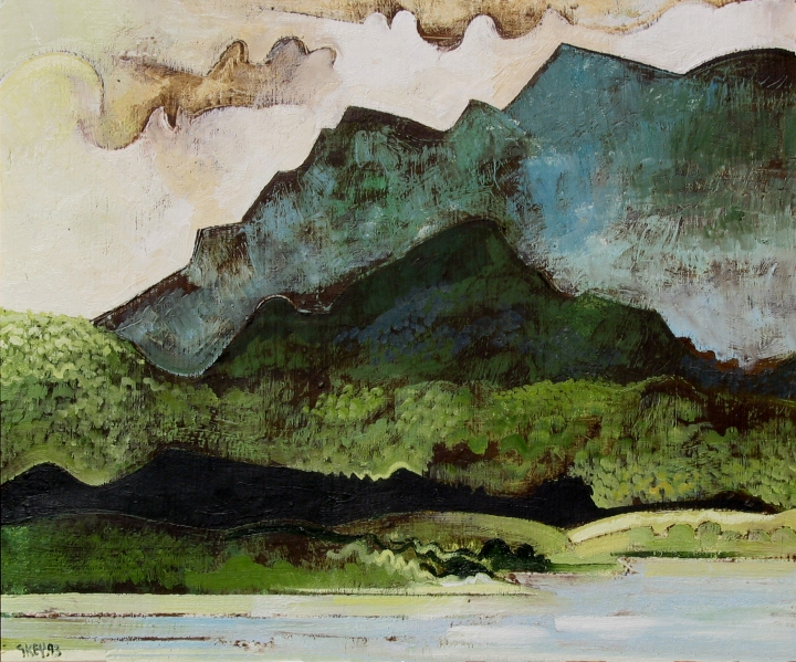New Territories Hong Kong, oil 1993