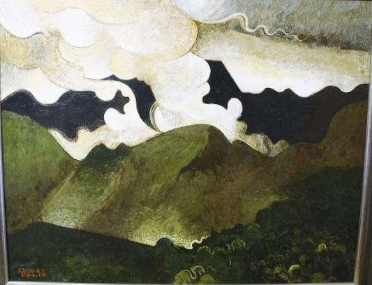 thunderstorm over Patsin, oil 1993