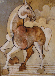white horse, oil 1994