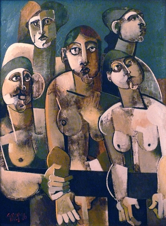 the crowd, oil 1996