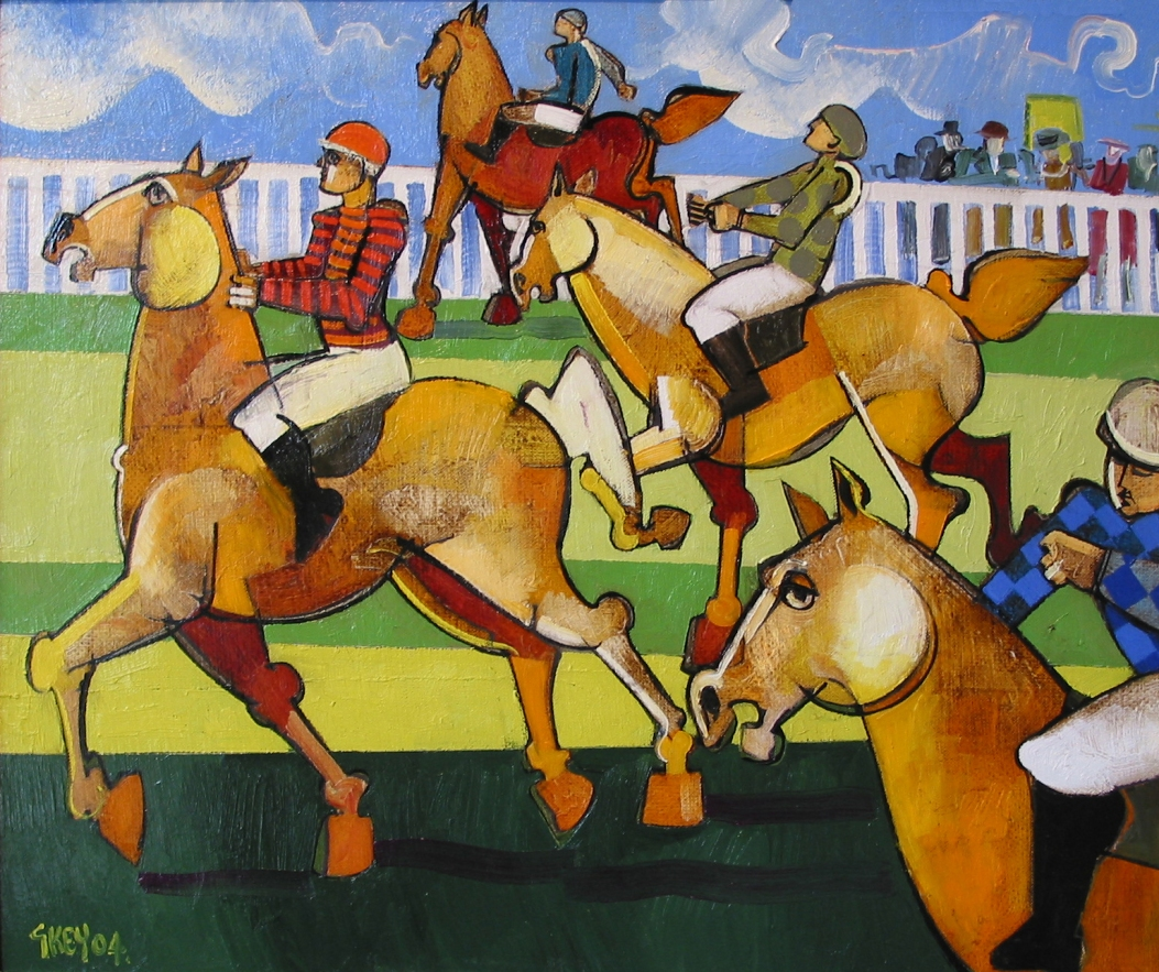race day, oil 2004