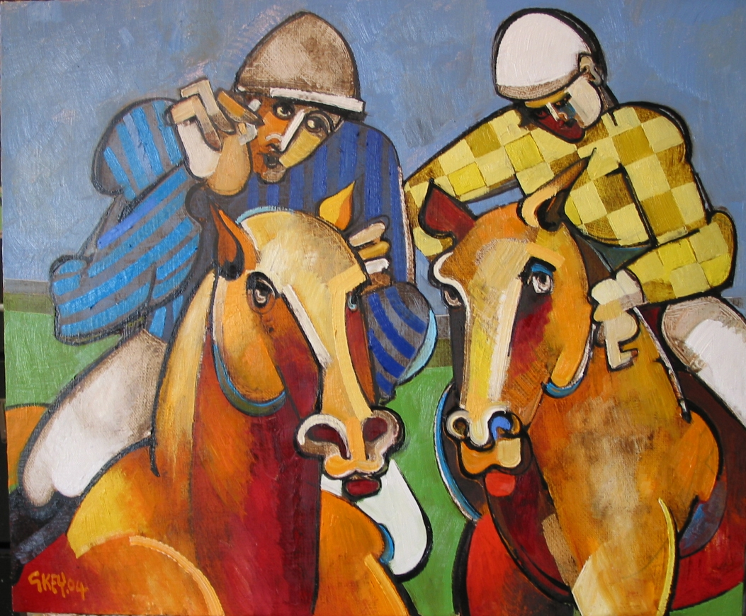 racing silks, oil 2004