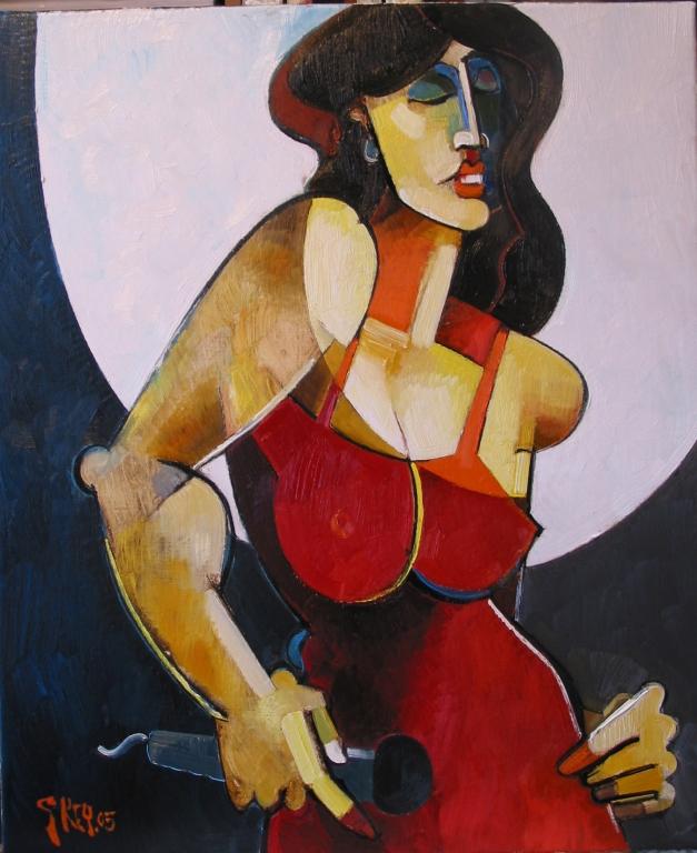 cabaret singer II, oil 2005