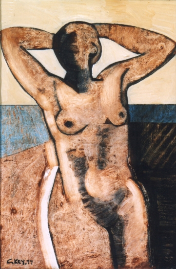 standing nude, oil 1977