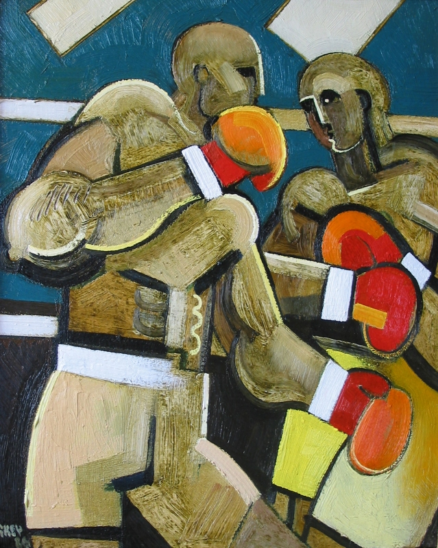 boxers, oil 1986