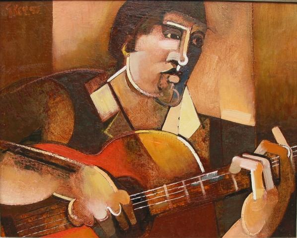 the guitarist, oil 1997