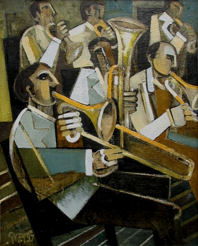 brass band, oil 1997