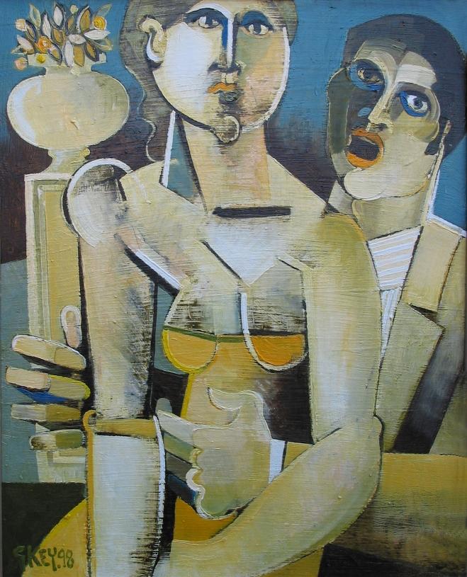 garden singer, oil 1998