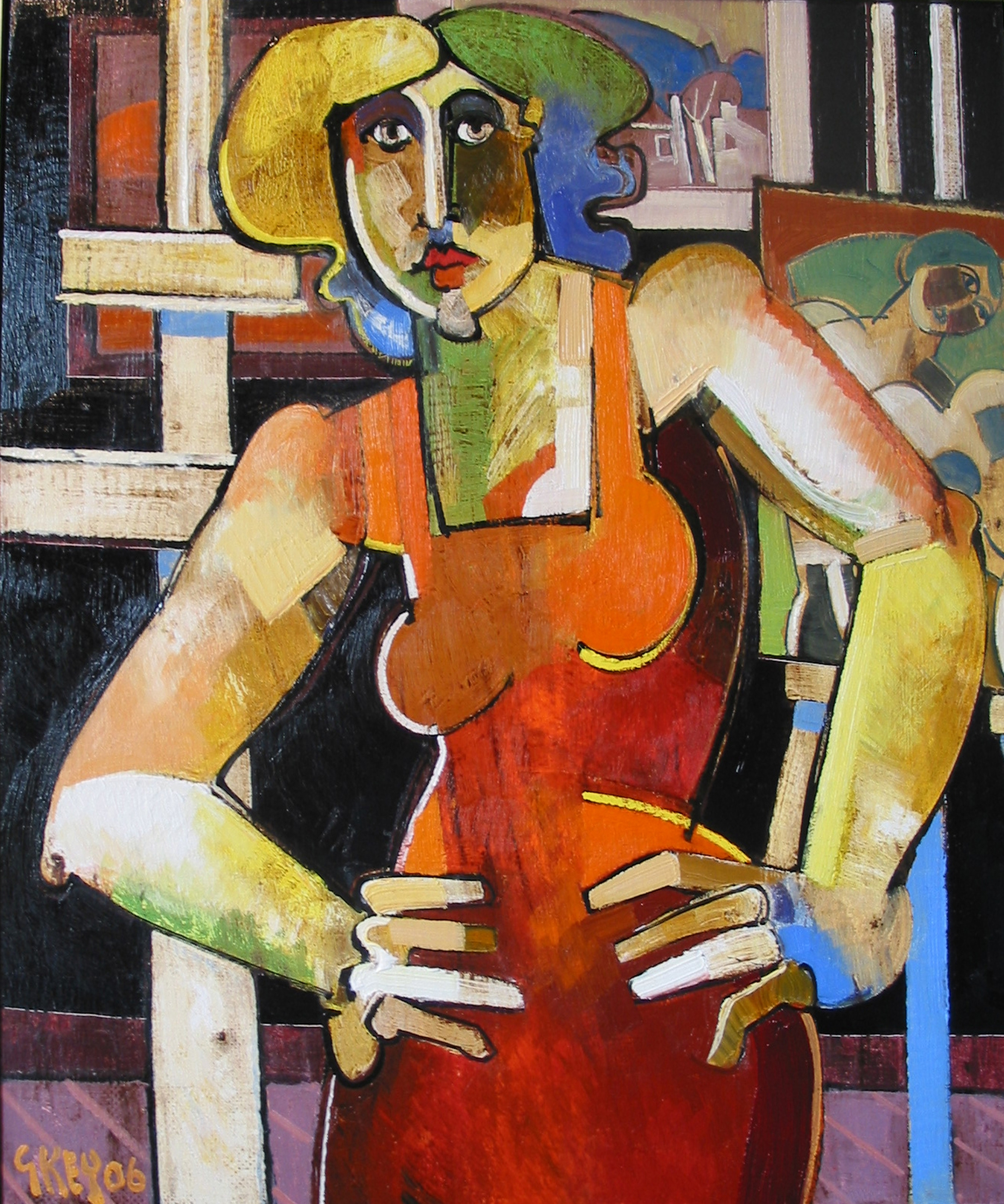 studio figure, oil 2006