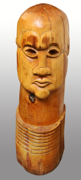 totem head, lime wood 1986