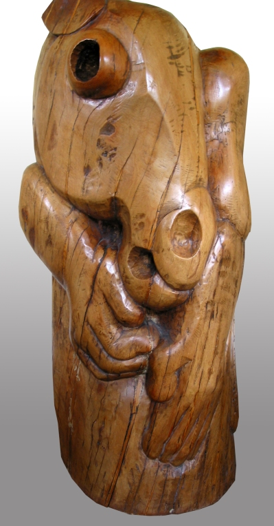figure and horse, pear wood 1989